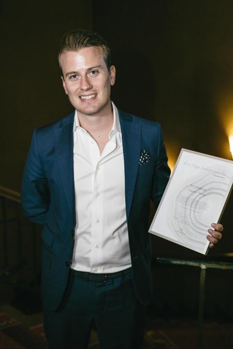 Tryggsams grundare, Per Erlandsson, utsedd till Årets Unga Entreprenör Öst 2016