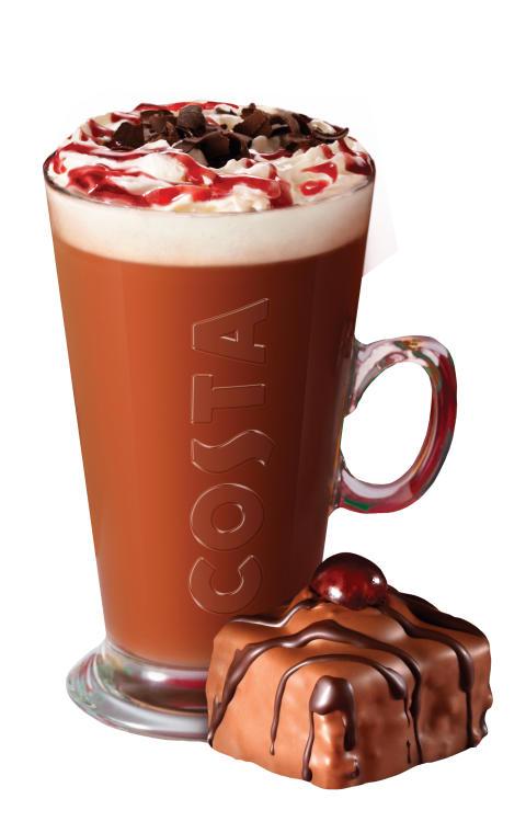 Costa Christmas Menu 2013 - Black Forest Hot Chocolate