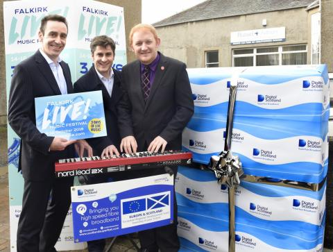 Digital Scotland gets in tune with Falkirk Live!