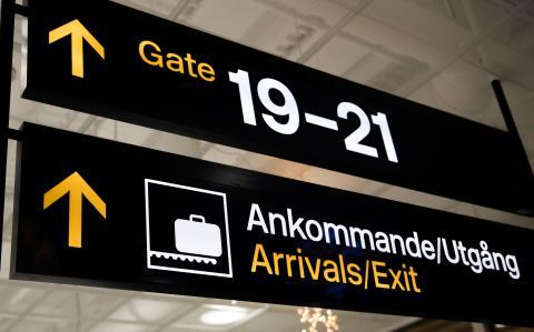 Måttlig ökning av antalet flygpassagerare under 2020