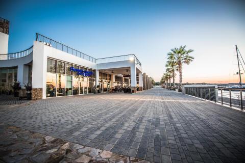 Hi-res image - Karpaz Gate Marina - The promenade with Hemingway's Resto-Bar at Karpaz Gate Marina