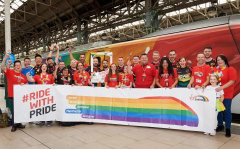Rugby Team helps kick off Virgin Trains' Manchester Pride celebrations
