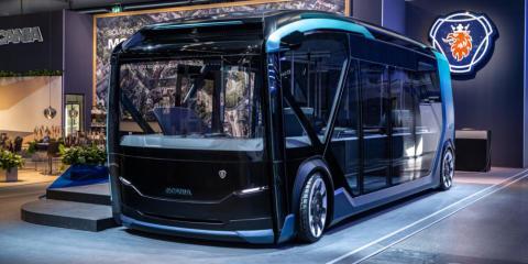 In i framtiden med Scanias nya konceptbuss NXT!