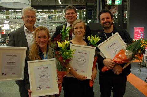 Vinnarna i Packaging Industry Awards korades på Scanpack 2012