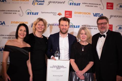 Restaurang Spill vinner Årets Skånska Miljö & Hållbarhetspris 2019