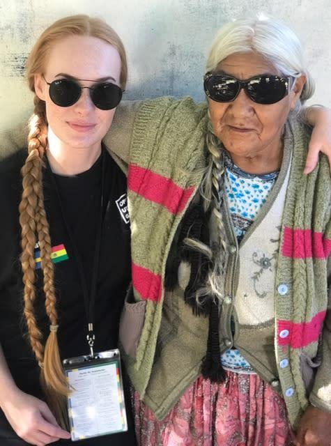 Natali Skoglund i Bolivia