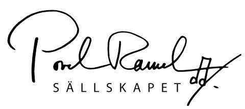Povel Ramel-sällskapets logotyp