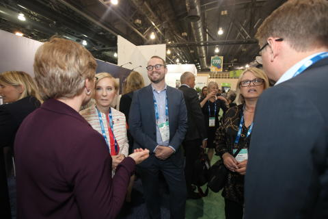 Lively discussions in the Nordic booth