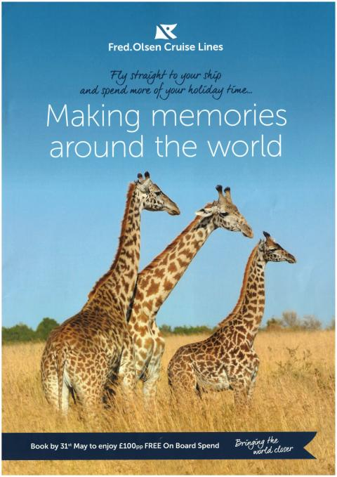'Making Memories Around the World' with Fred. Olsen Cruise Lines