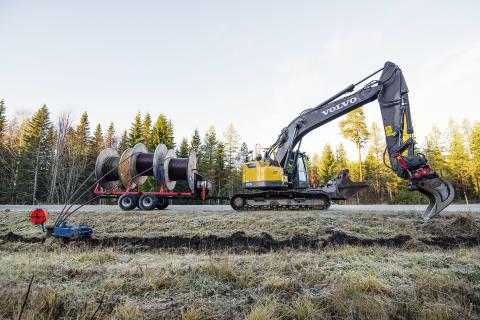 Volvo ECR235C i arbete - Aspsjö Entreprenad (bild 2)
