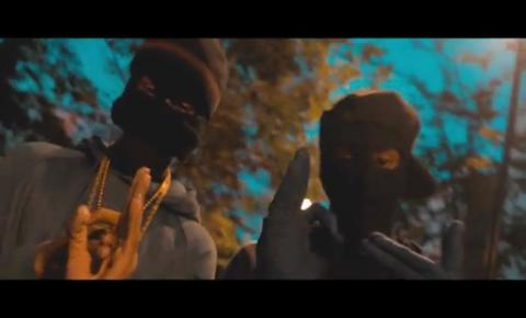 Jordan Bedeau (R) in 'Kill Confirmed' video