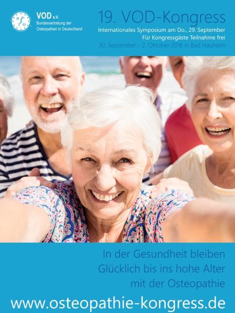 Osteopathie: Fit bis ins hohe Alter / Internationaler Osteopathie-Kongress vom 30.9.-02.10.2016 in Bad Nauheim