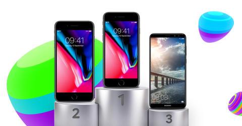 TOP 10 - de mest populære mobiler i oktober