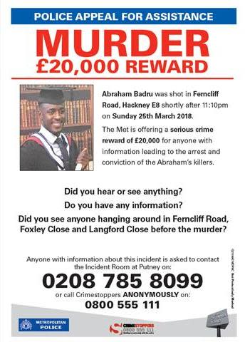 Abraham Badru appeal poster