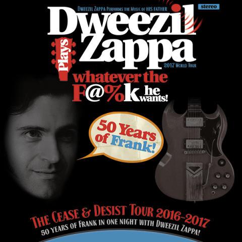 Dweezil Zappa återvänder till Sverige för tre konserter i höst