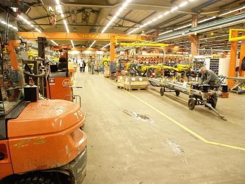 Atlas Copco produktion underjordsprodukter