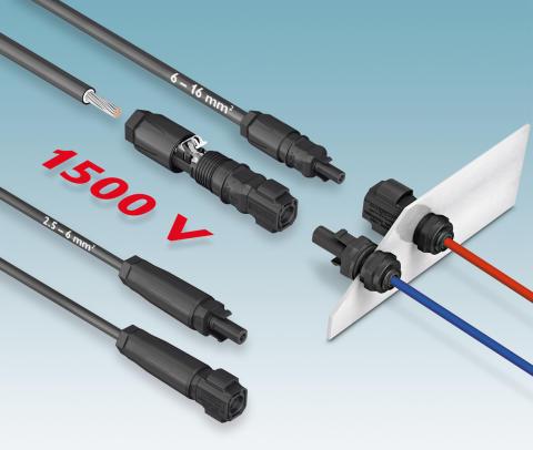 Fleksible stik op til 1500 V