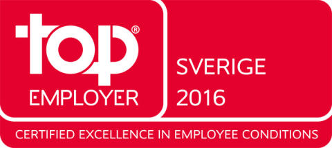 Saint-Gobain Sweden AB certifieras Top Employer 2016