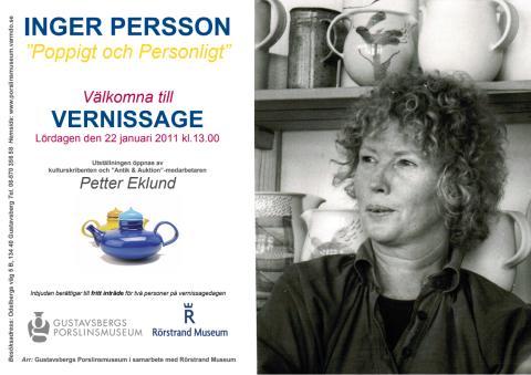 Välkommen till vernissage på Gustavsbergs Porslinsmuseum den 22 januari 2011