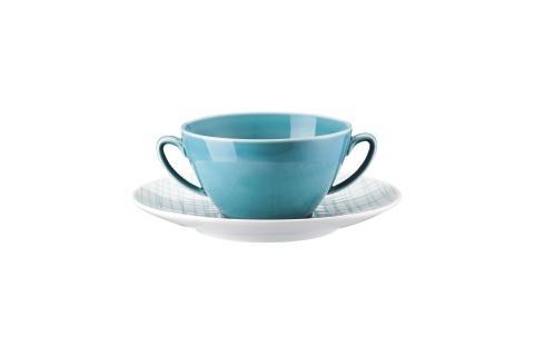 R_Mesh_Line Aqua_Creamsoup cup and saucer