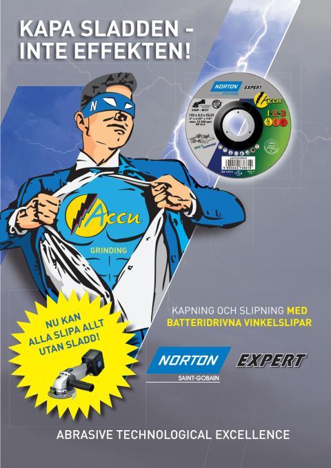 Broschyr Norton Expert Accu - Kapskivor och navrondeller för batteridrivna vinkelslipar