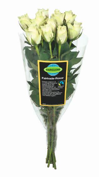 Lidl Sverige går mot 100 procent Fairtrade-märkta rosor