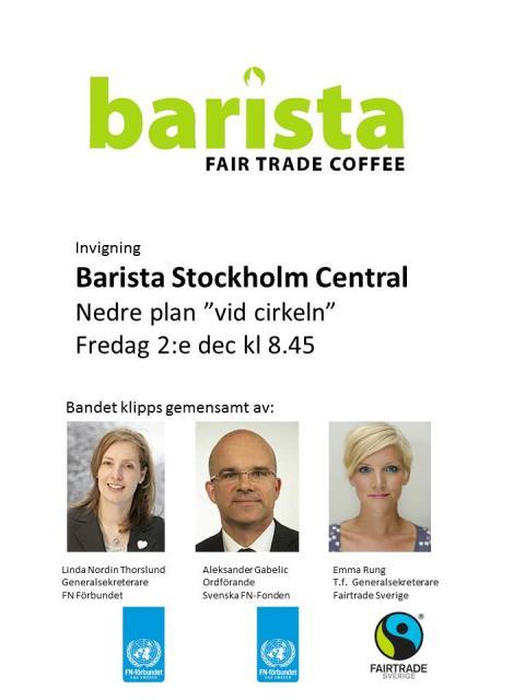 Barista Stockholm Central invigning 2:e dec 2011