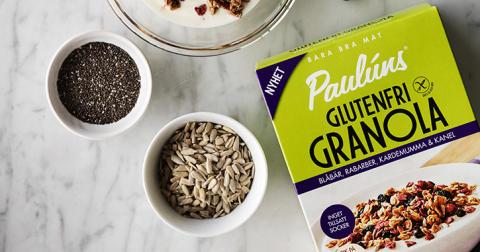 Sveriges mest sålda granola nu även glutenfri