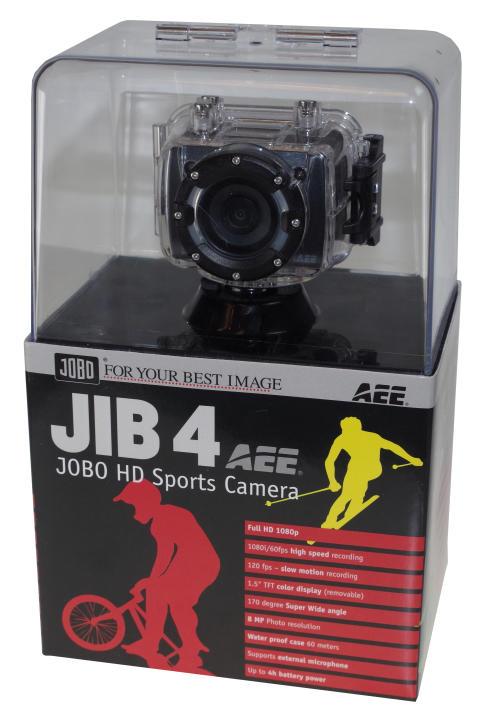 Jobo JIB4 actionkamera i förpackning