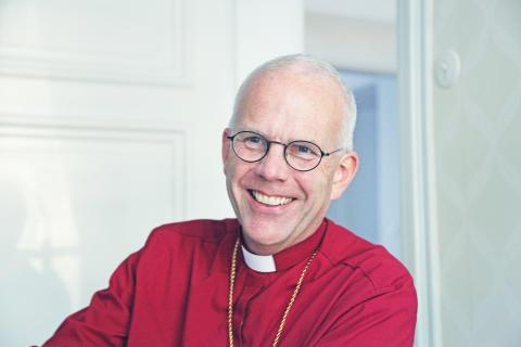 Biskop Martin Modéus besöker Portalen i Norrköping