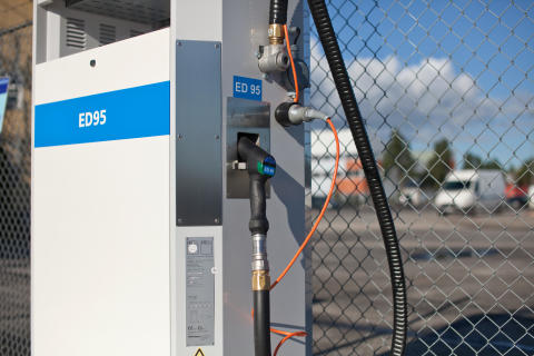 Sweden's first public filling station for ED95 found in Jordbro