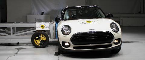 NCAP side impact crash test - Mini Clubman