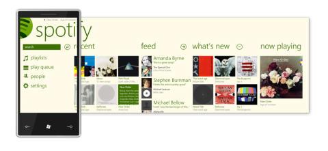 Så här ska en app se ut: Spotify för WP7.5