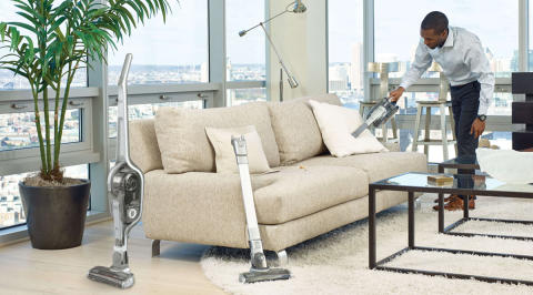No Loss of Suction† with New BLACK+DECKER™ Stick Vacs