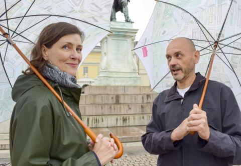 Ylva Berglund och Håkan Strömberg ska svara på göteborgarnas frågor. Foto: Isa Andersson