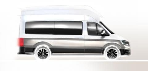 Volkswagen Erhvervsbiler præsenterer  til august en ny Crafter-baseret campingbus