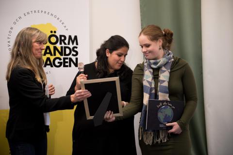 Vinnarna av Skapa Framtidens Innovatörer Josephine Andersson och Daniela Lundin Hatje
