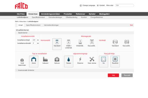 Frico lanserar ny produktvalsguide