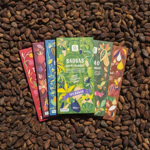 Fairtrade-kakao i Garants nya chokladserie