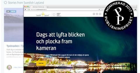 Finalist till Publishingpriset 2017, bildkollage Swedish Lapland Visitors Board