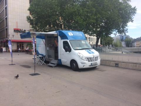 Beratungsmobil der Unabhängigen Patientenberatung kommt am 26. September nach Siegen.