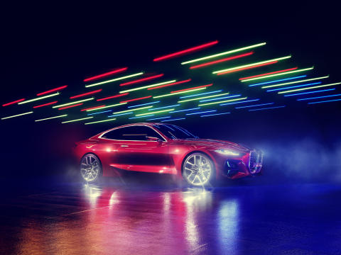 BMW Concept 4 tarjoaa tunnetta, voimaa ja eleganssia