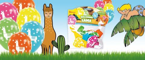 Lama, enhörning och ananas -  Ballonger i 100 % naturlig latex