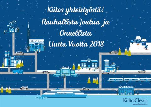 Rauhallista joulua ja onnellista uutta vuotta 2018