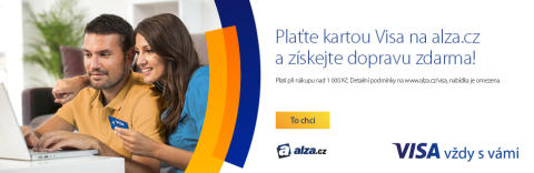 Vizuál ke společné kampani Visa a Alza.cz