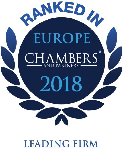 Ræder anerkjennes i årets Chambers Europe