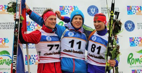 Endre Strømsheim, pallen,  sprint ungdom menn, junior-vm 2016