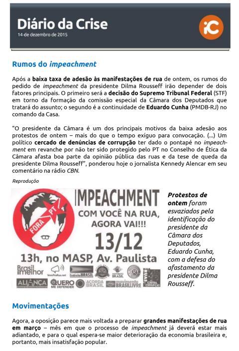 Diário da Crise - 14.12.2015