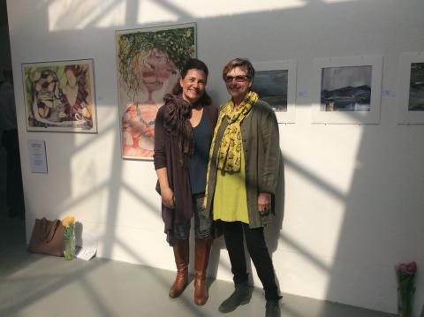 Lena Cras, Hagby och Karin Sten, Älvdalen, tilldelas Väsby Konsthalls Akvarellstipendium 2018