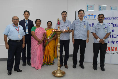 01_The First Opening Ceremony for the YAMAHA MOTOR NTTF Training Center(YNTC) the Japan-India Institute for Manufacturing